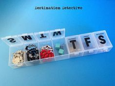 Pack jewelry in a pill case.