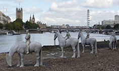 Thames River, London  The Rising Tide, by British sculptor Jason deCaires Taylor.