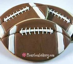 Flour Box Bakery — Football (Large) Cookie Favor
