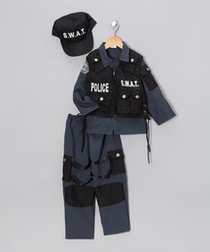 Dress Up America Black SWAT Police Dress-Up Set - Toddler & Kids | zulily