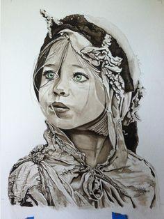 """Irish gypsy child"" photo off Internet"