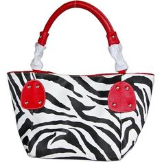 Red Large Vicky Zebra Print Faux Leather Satchel Bag Handbag Purse - For Sale Check more at http://shipperscentral.com/wp/product/red-large-vicky-zebra-print-faux-leather-satchel-bag-handbag-purse-for-sale/