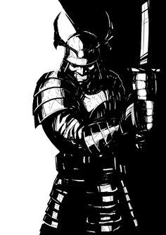 Código: Samurai by Vicente Valentine, via Behance