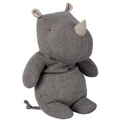 Part of Maileg's safari friends, young ones will rejoice with this adorable Rhino toy, making it a wonderful gift for animal lovers. Baby Toys, Kids Toys, Kids Collection, Fabric Animals, Cute Toys, Toddler Gifts, Cuddling, Dinosaur Stuffed Animal, Sewing Projects