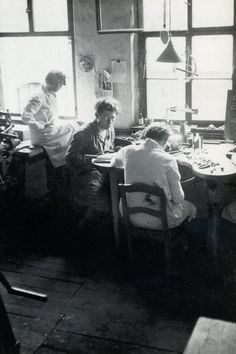 Found on dieselpunks.org Marianne Brandt in the Metal workshop The madness of work spaces