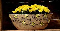 Keramika u Lavender Slab Ceramics, Hand Painted Ceramics, Slab Pottery, Ceramic Pottery, Ceramic Lantern, Sgraffito, Terracotta Pots, Unusual Gifts, Plant Holders
