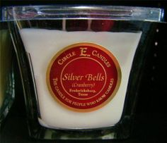 New Circle E Candle Silver Bells 12 oz Jar Discovery Christmas Cranberry Holiday | eBay