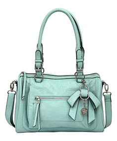 Look at this Eggshell Blue Alicia Satchel by Jessica Simpson Collection Denim Handbags, Fashion Handbags, Purses And Handbags, Fashion Bags, Fashion Ideas, Jessica Simpson Handbags, Jessica Simpson Collection, My Style Bags, Green Purse