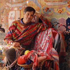 Kaffe Fassett, I honestly could have an entire board dedicated to his work. Mind=Blown.