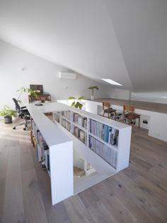 Gallery of The Corner House in Kitashirakawa / UME architects – 14 - Home Decor Ideas Attic Bedroom Designs, Attic Bedrooms, Attic Design, Interior Design, Attic Bedroom Storage, Design Loft, Bedroom Loft, Studio Design, Bed Design
