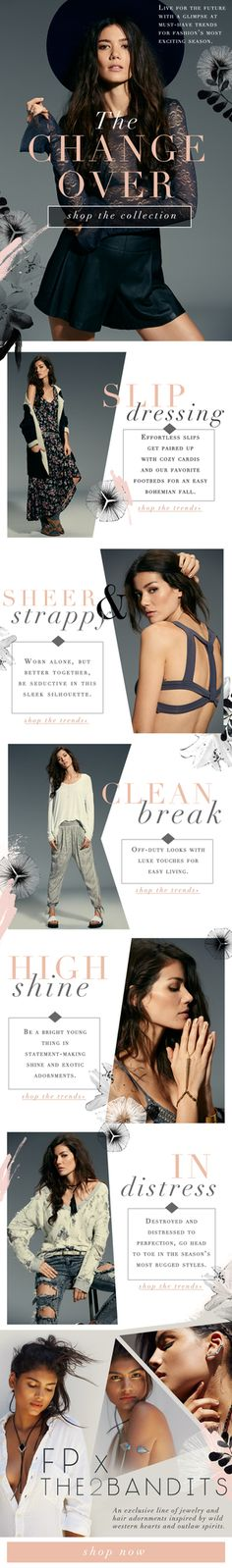 free people email layout / abby wilhelm