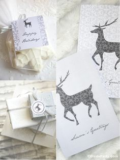 White Winter Wonderland Christmas Party Printables and Papers