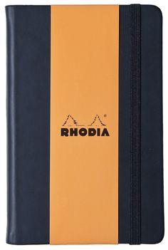 Rhodia Webnotebook Black 5 1/2 X 8 1/4 Lined