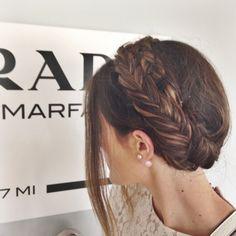 milkbraid fishtails + blush earrings
