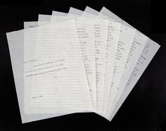 A vintage file copy of a six-page typed letter from Monroe to Dr. Ralph Greenson, the California-based psychiatrist who treated Monroe in the period leading up to her death. This deeply emotional letter, dated March 2, 1961, was written while Monroe was staying at Columbia Presbyterian Medical Center for three weeks of recuperation following her stay at New York's Payne Whitney Psychiatric Clinic. The letter is done as a stream of conscious recollection of Payne Whitney.