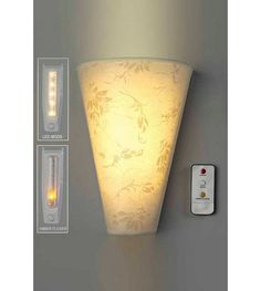 fc9defa4445 Battery Operated Wall Light And Remote Control £14.99 studio.co.uk Battery  Lights