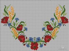Cross Stitch Embroidery, Cross Stitch Patterns, Cross Stitch Pictures, Red Poppies, Handicraft, Needlework, Diy And Crafts, Knitting, Sewing