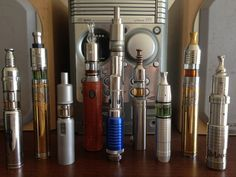 These pictures were posted by 'mod1217 ' to photobucket showing his/her(?) current vaping devices.  Are these not just awesome to look at?  lol  I am fascinated by them.  NB (new 'vaper' here...)