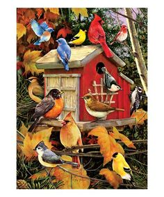 4bc91de58c76 Fall Birds 1000 piece jigsaw puzzle by Greg and Company. Cobble Hill Puzzle  Co fall and birds puzzle.