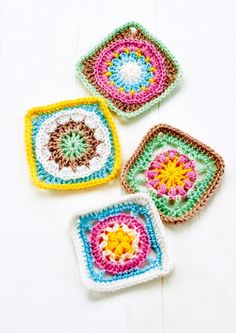 Granny Square Series Part Three ~ FREE - CROCHET ~ sign up and you receive lots of free patterns like these beautiful grannies
