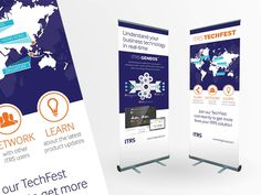 Roller banner designs for ITRS' global TechFest event
