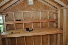 ❧ How to Build Shed Storage Shelves