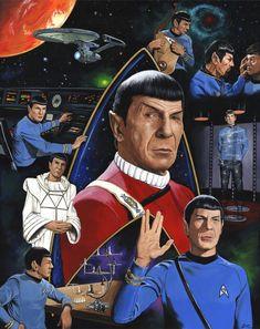 Live Long and Prosper ( Spock - Star Trek ), in Ed Lloyd Gragg's Ed Lloyd art for sale Comic Art Gallery Room Star Trek Tv Series, Star Trek Cast, Star Trek Spock, Star Trek Original Series, Star Wars, Star Trek Characters, Star Trek Movies, Nave Enterprise, Star Trek Posters
