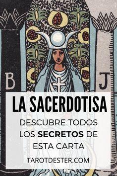 La Sacerdotisa es una de las cartas de Tarot más espirituales. Es el II Arcano Mayor. Descubre todos los secretos y significados pulsando la imagen. Tarot Significado, Wicca, Witchcraft, Peace, Education, Cards, Halloween, Tarot Reading, Tarot Decks