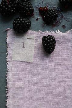 Homemade natural fruit dye by Sania Pell