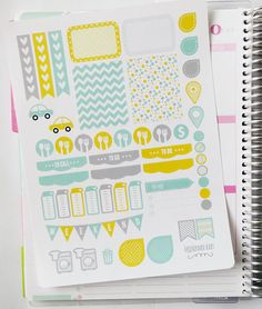Sunshine Weekly Spread Planner Stickers for Erin Condren Planner, Filofax, Plum Paper