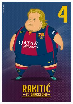 Fat Players: FC Barcelona on Behance