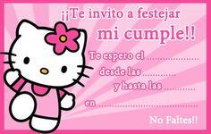 Invitaciones para imprimir de Hello Kitty - Fiestas infantiles
