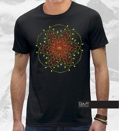 Psychedelic Forest all seeing eye Men t-shirt  mandala by GavRpro