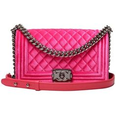 c72f1b0ec48426 The Chanel Boy Fuchsia Quilted Velvet Medium Shoulder Bag is a top 10  member favorite on Tradesy.
