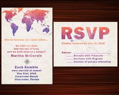 Items similar to Map Elopement Invitation and RSVP. Elopement Party Watercolor Wedding Invitation, Elopement Invitation We Eloped, Just Married Digital on Etsy Watercolor Wedding Invitations, Party Invitations, Elopement Party, Just Married, Rsvp, Awesome, Creative, Handmade, Etsy
