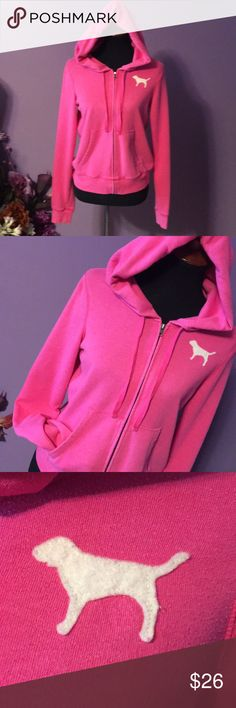 Victoria's secret pink hoodie. Size large. Pink hoodie size large preowned great condition. Size large. See pictures for details. Please ask all questions prior to purchase, there are no returns. PINK Victoria's Secret Tops Sweatshirts & Hoodies