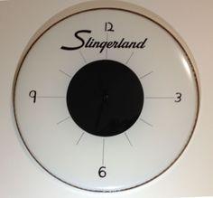 Drum Head Wall Clock #home #decor