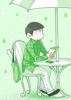 おそ松さん Osomatsu-san チョロ松「GREEN」/「うさぽんぬ」のイラスト [pixiv]