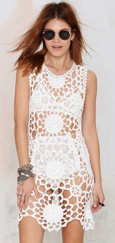 UNIF Fleur Crochet Dress
