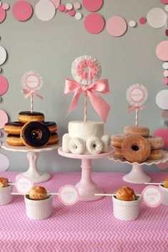 polka dot party (would be so fun for a morning birthday party- donuts!)