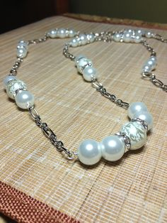 """42"""" Chain and White Pearl Necklace"""