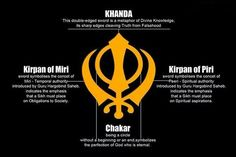 Some people post pictures online where it says that each part of Khanda is taken from different religions.Read description in the picture above and get knowledge Guru Granth Sahib Quotes, Shri Guru Granth Sahib, Guru Nanak Ji, Nanak Dev Ji, Sikh Quotes, Gurbani Quotes, Wisdom Quotes, Sikhism Beliefs, Guru Hargobind