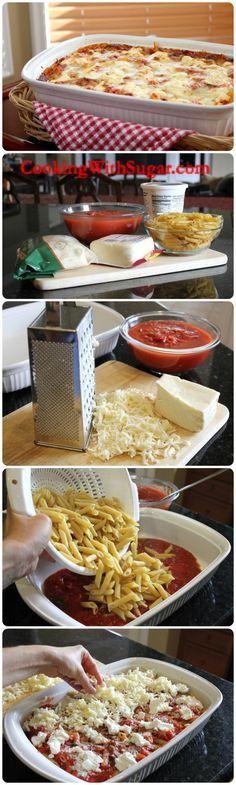 italian Baked-Ziti-Macaroni-Casserole  So easy So Yummy!!!