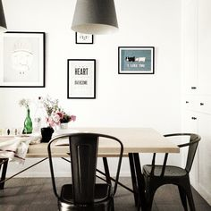 Project Sophia | Dining Table | Tolix chair | Caravaggio Lamp | hoo