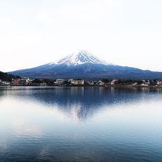 And she is just so #beautiful. Waking up at 4am was absolutely  worth it. Fujisan, you take my breath away.  #VSCOcam #mountfuji #kawaguchiko #travel #WhereITravel #reflection #symetry #wanderer #nature #landscape #mountain #Japan #fujisan #fujiyama #iphoneonly #travelgram #iphonephotography #view #pupuru #japantravel #wifirental