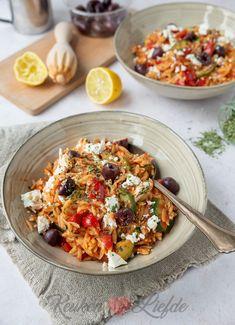 Good Healthy Recipes, Veggie Recipes, Vegetarian Recipes, Lunch Snacks, Greek Recipes, Italian Recipes, I Love Food, Good Food, Healthy Slow Cooker
