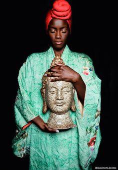Love the Budha style Turban