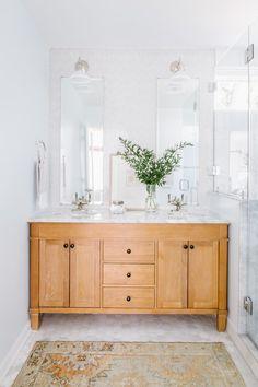Project Reveal: Northern VA Master Bath Renovation — Alison Giese Interiors – Home Renovation Bathroom Renovations, Home Renovation, Home Remodeling, Eclectic Bathroom, Small Bathroom, Shared Bathroom, White Bathrooms, Bathroom Ideas, Modern Bathroom