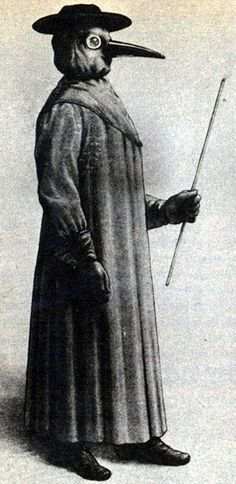 Plague doctor - scary, strange vintage job! #vintagephotos #plaguedoctor #plaguedoctormask