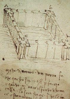 Leonardo da Vinci - Modo di votare un porto, study